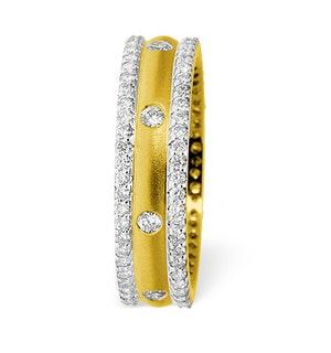 Mens 1.3ct G/Vs Diamond 18K Gold Dress Ring