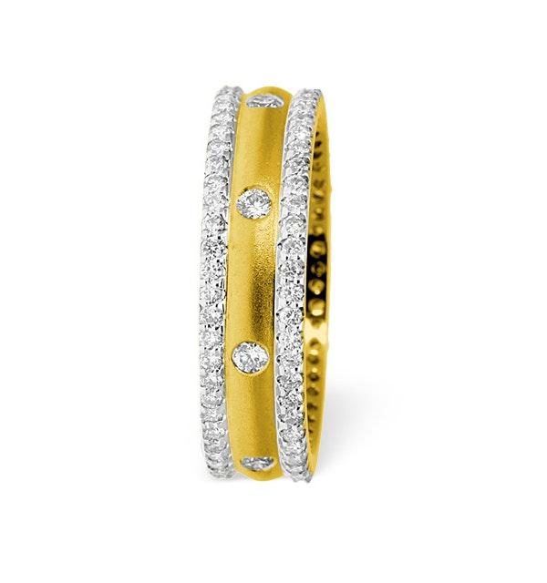 Mens 1.3ct G/Vs Diamond 18K Gold Dress Ring - image 1
