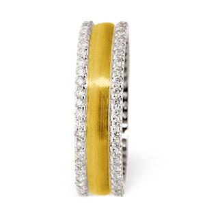 Mens 0.7ct H/Si Diamond 18K Gold Dress Ring