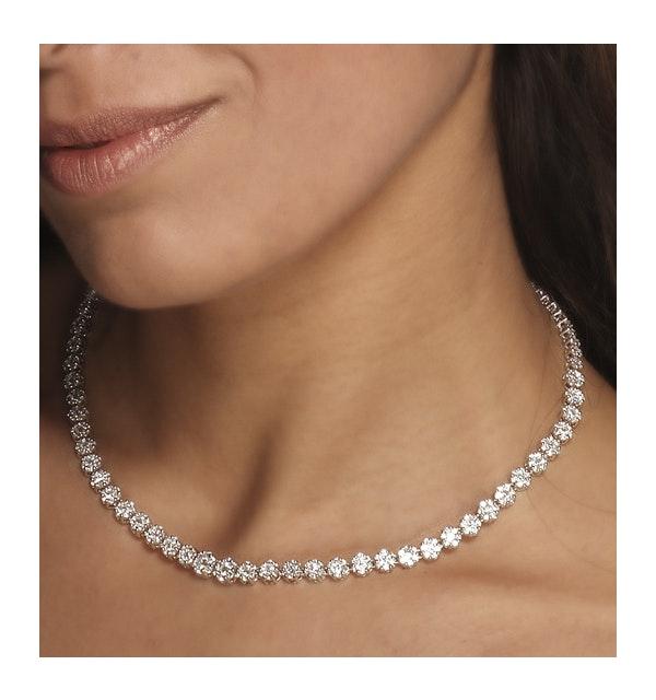 18KW Diamond Cluster Necklace 7.00ct G/Vs - image 1