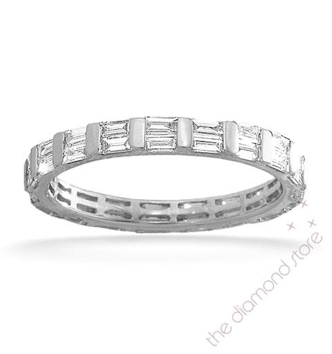 Eternity Ring Jessica 18K White Gold Diamond 1.00ct H/Si - image 1