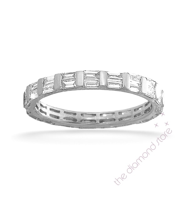 Eternity Ring Jessica Platinum Diamond 1.00ct G/Vs - image 1