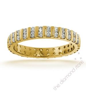 Mens 1ct H/Si Diamond 18K Gold Full Band Ring Item IHG37-322JUA
