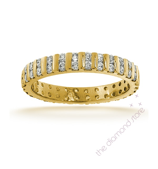 Mens 1ct H/Si Diamond 18K Gold Full Band Ring Item IHG37-322JUA - image 1