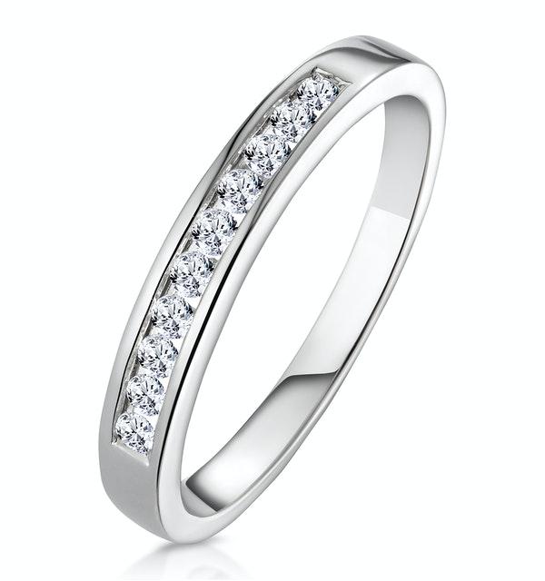 Rae Half Eternity Ring 0.20CT Diamond 9K White Gold - image 1