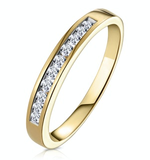 Rae Half Eternity Ring 0.25CT Diamond 9K Yellow Gold