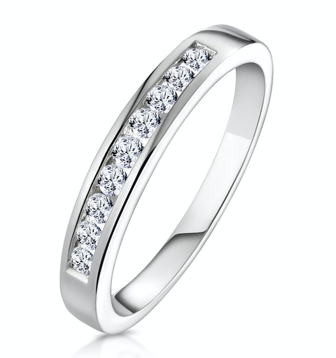 Rae 18K White Gold Diamond Half Band Eternity Ring 0.25CT G/VS - image 1
