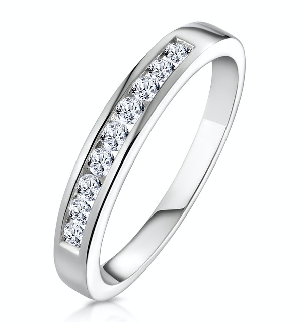 Rae Platinum Diamond Half Band Eternity Ring 0.25CT H/SI - image 1
