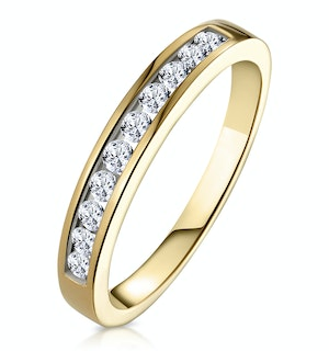 Rae Half Eternity Ring 0.33CT Diamond 9K Yellow Gold