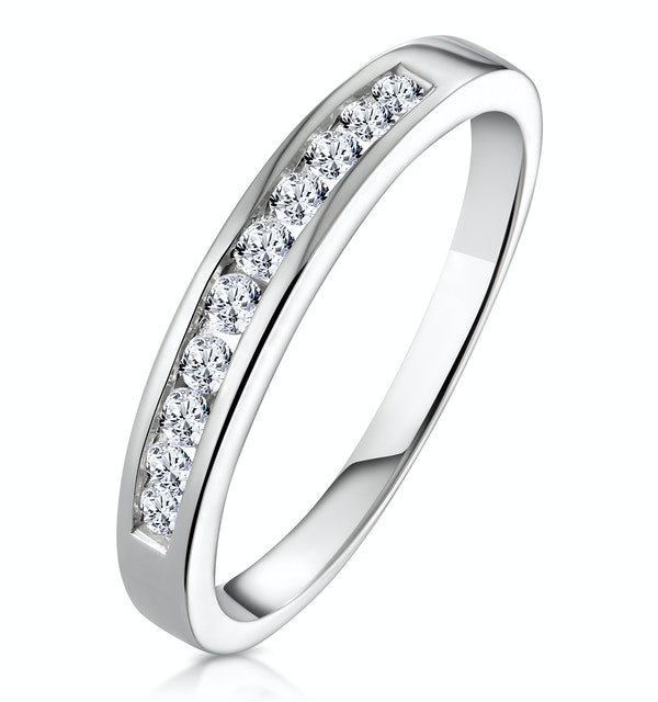 Rae Half Eternity Ring 0.33CT Diamond 9K White Gold - image 1