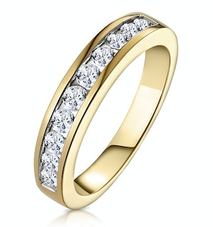 Rae Half Eternity Ring 0.50CT Diamond 9K Yellow Gold