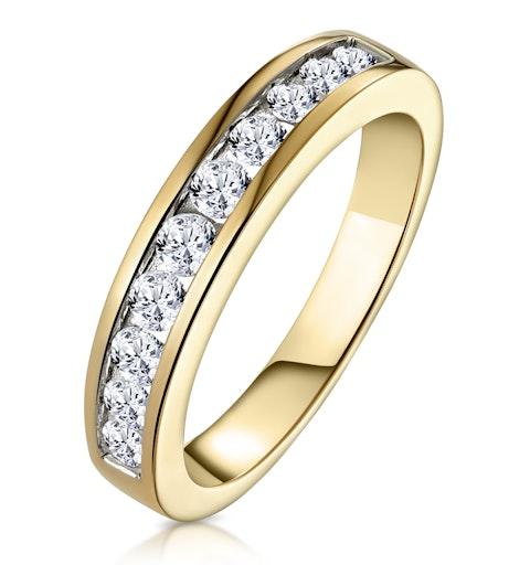 Rae Half Eternity Ring 0.50CT Diamond 9K Yellow Gold - image 1