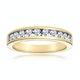 Rae Half Eternity Ring 0.50CT Diamond 9K Yellow Gold - image 2