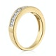 Rae Half Eternity Ring 0.50CT Diamond 9K Yellow Gold - image 3