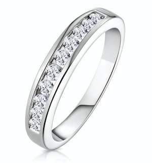 Rae 0.50CT Diamond Half Eternity Ring 9K White Gold