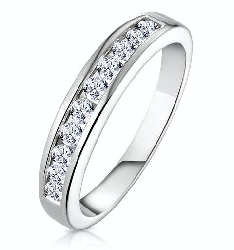 Rae Platinum Diamond Half Band Eternity Ring 0.50CT G/VS - image 1