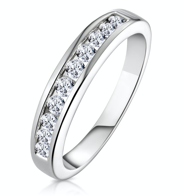 Rae 18K White Gold Diamond Half Band Eternity Ring 0.50CT H/SI - image 1