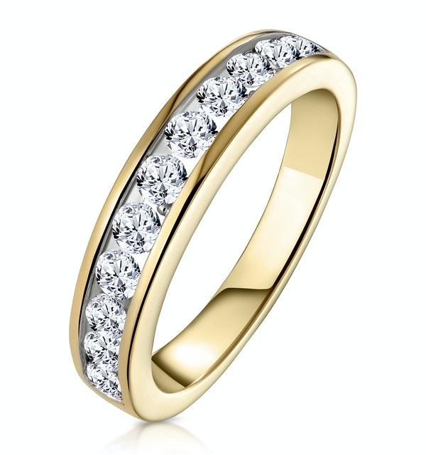 Rae Half Eternity Ring 0.75CT Diamond 9K Yellow Gold - Size P - image 1