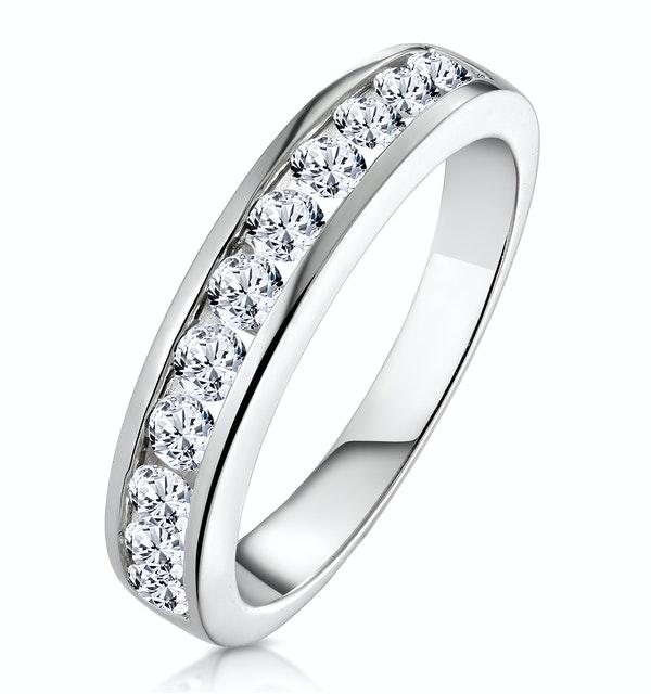 Rae Half Eternity Ring 0.75CT Diamond 9K White Gold - image 1
