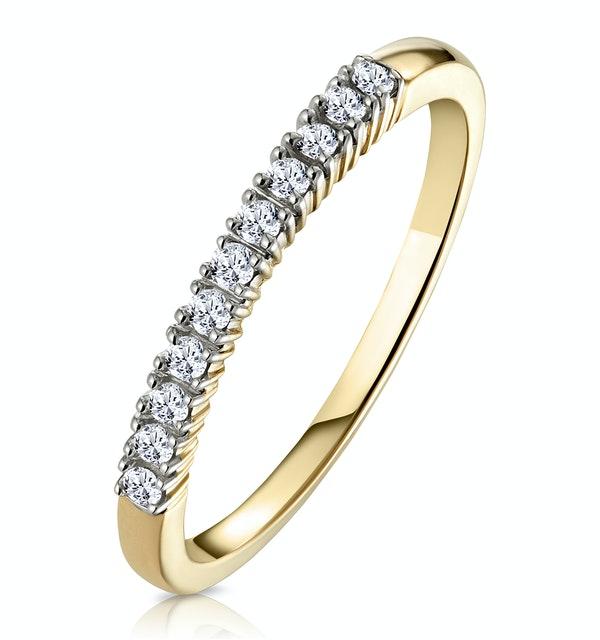 Half Eternity Ring Diamond 9K Yellow Gold 0.15CT - image 1