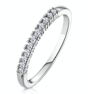 Diamond Wedding Ring 0.15CT Claw Set Diamond 9K White Gold