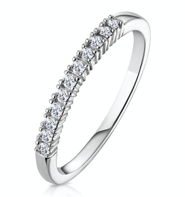 Half Eternity Ring 0.15CT Claw Set Diamond 9K White Gold - image 1