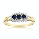 Sapphire 0.34ct And Diamond 9K Gold Ring - image 2