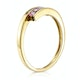 0.21ct Pink Sapphire and Diamond Ring 9K Yellow Gold - image 3