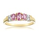 Pink Sapphire and 0.02ct Diamond Ring 9K Yellow Gold - image 2