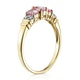 Pink Sapphire and 0.02ct Diamond Ring 9K Yellow Gold - image 3
