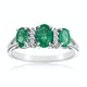 Emerald 1.06ct And Diamond 9K White Gold Ring - image 2
