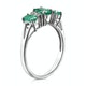 Emerald 1.06ct And Diamond 9K White Gold Ring - image 3