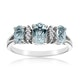 Aquamarine 0.80CT And Diamond 9K White Gold Ring - image 2