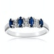 Sapphire 0.76ct And Diamond 9K White Gold Ring - image 2