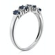 Sapphire 0.76ct And Diamond 9K White Gold Ring - image 3