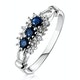 Sapphire 0.34ct And Diamond 9K White Gold Ring - image 1