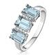 Aquamarine 1.65CT And Diamond 9K White Gold Ring - image 1