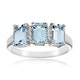 Aquamarine 1.65CT And Diamond 9K White Gold Ring - image 2