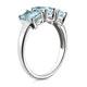 Aquamarine 1.65CT And Diamond 9K White Gold Ring - image 3
