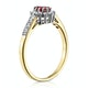 Ruby 5 x 3mm And Diamond 9K Gold Ring  A3351 - image 3