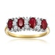 Ruby 1.12ct And Diamond 18K Gold Ring - image 2
