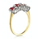 Ruby 1.12ct And Diamond 18K Gold Ring - image 3