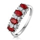 Ruby 1.12ct And Diamond 9K White Gold Ring - image 1