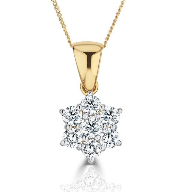1.00ct G/vs Diamond and 18K Gold Pendant Necklace - FR27-322XUA - image 1