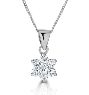 0.25ct G/vs Diamond and 18K White Gold Pendant Necklace - FR27-47XUY