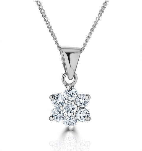 0.25ct G/vs Diamond and 18K White Gold Pendant - FR27-47XUY - image 1