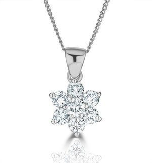 0.50ct H/si Diamond and Platinum Pendant Necklace - FR27-72JUS