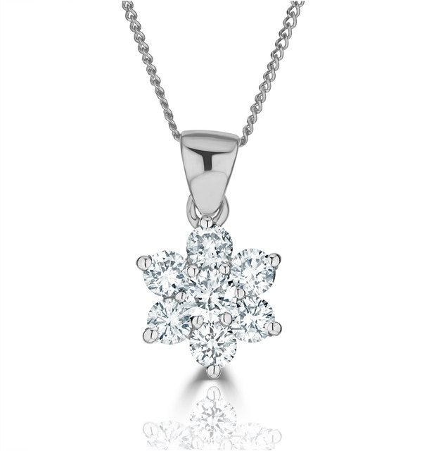 0.50ct H/si Diamond and Platinum Pendant Necklace - FR27-72JUS - image 1