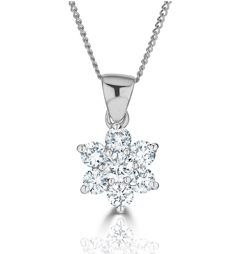 0.50ct H/si Diamond and Platinum Pendant - FR27-72JUS - image 1