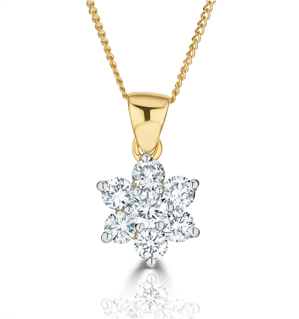 0.50ct G/vs Diamond and 18K Gold Pendant Necklace - FR27-72XUA - image 1